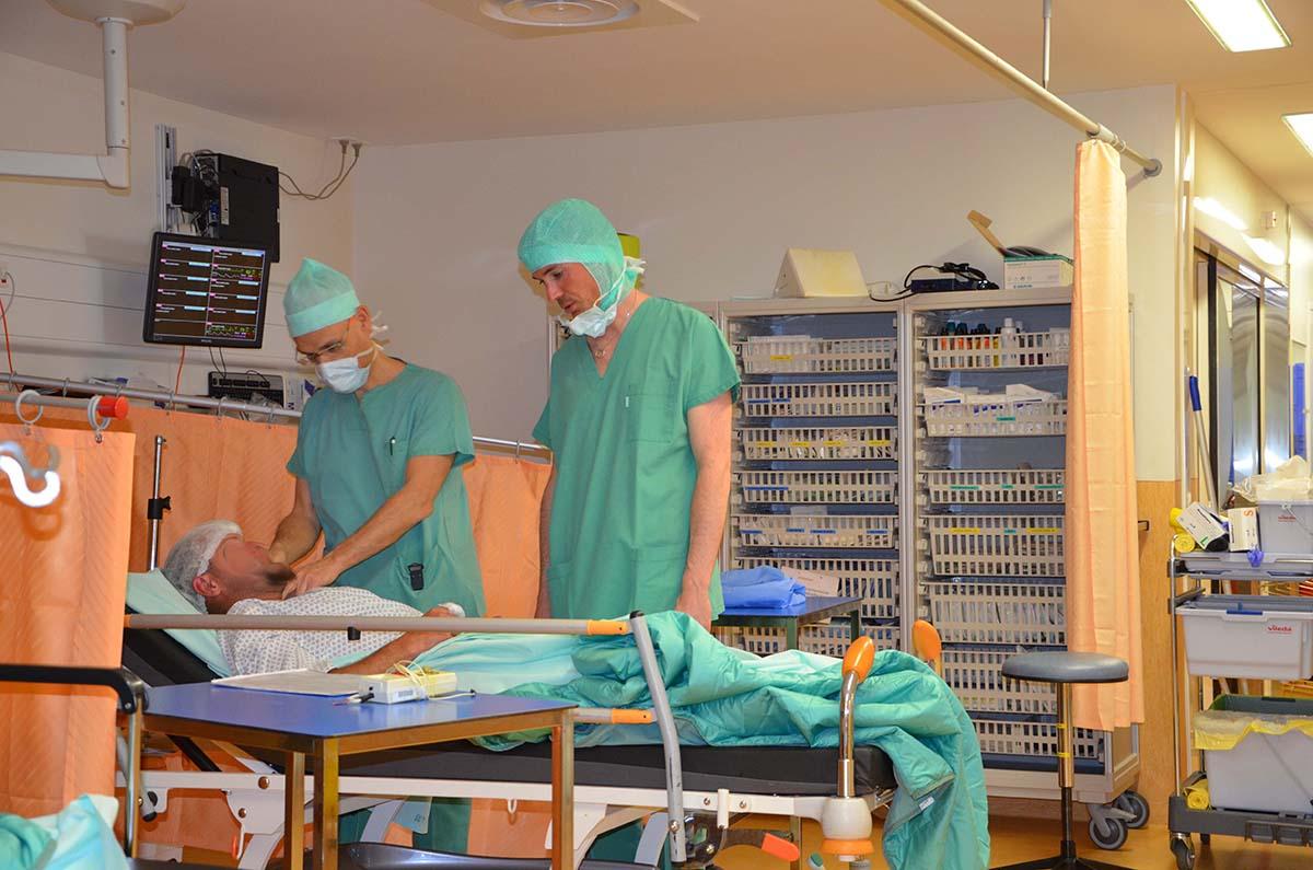 Zone d'induction avec un médecin et un anesthésiste