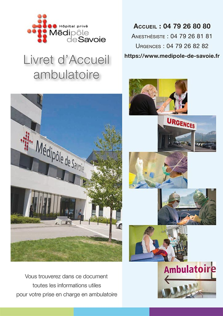 Livret accueil médipôle de savoie - hospitalisation ambulatoire