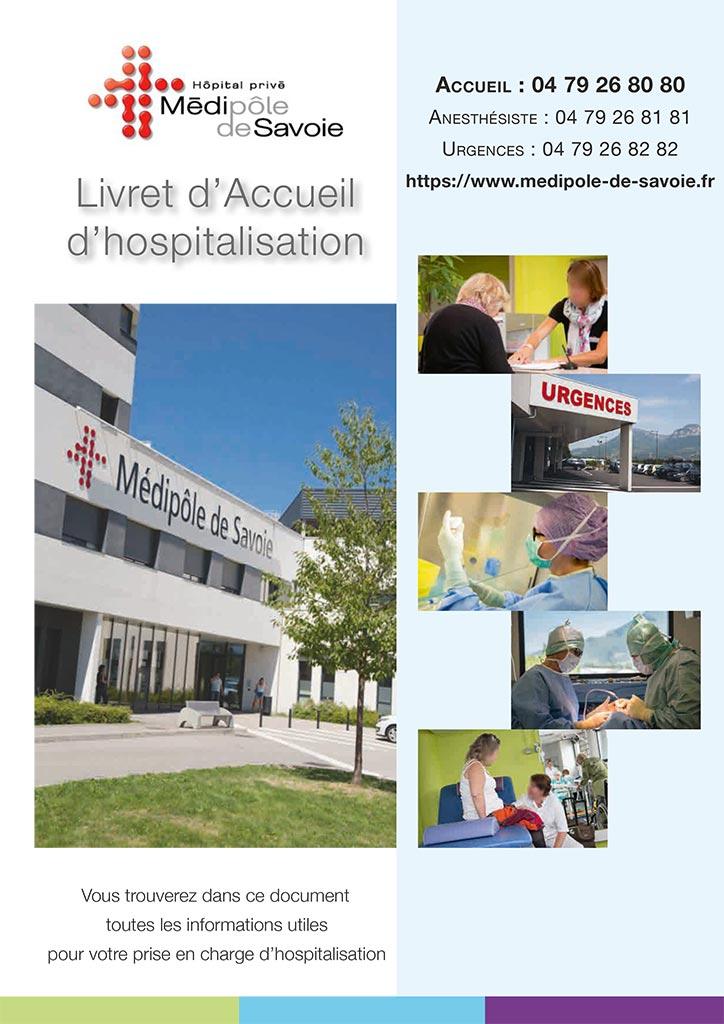 Livret accueil - hospitalisation complète médipôle savoie
