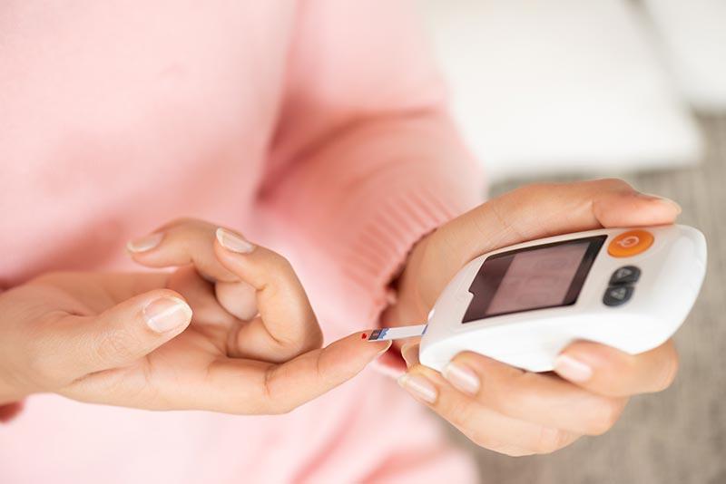 Test sucre pour diabétique